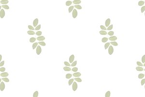 Leaves Motif Seamless Pattern Design