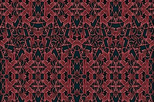 Modern Arabesque Seamless Textile Pattern