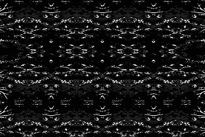 Dark Ethnic Folk Mirrored Pattern