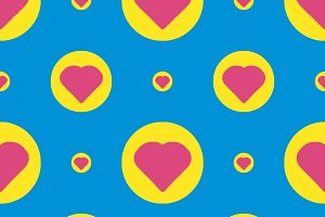 Conversational Cute Heart Motif Pattern