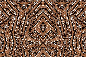 Ethnic Textured Geometric Seamless Pattern