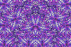 Colorful Ethnic Intricate Seamless Pattern.