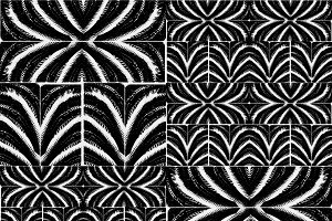 Black and White Tribal Bold Seamless Pattern