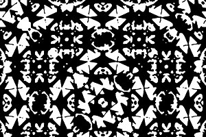Black and White Islamic Geometric Seamless Pattern
