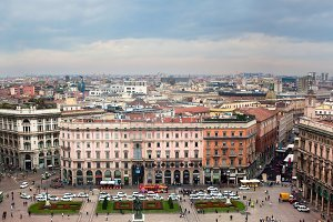 Panorama of Milan, Italy