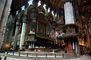 Interior of Milan Cathedral, Italy