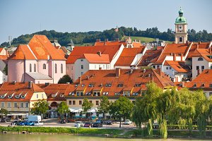 Skyline of Maribor city