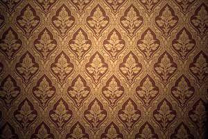 Old retro wallpaper in sepia