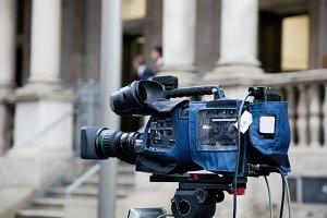 Video camera close up