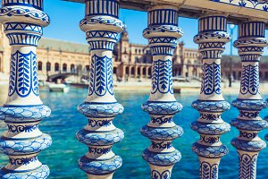 Plaza de Espana Balustrade Detail,