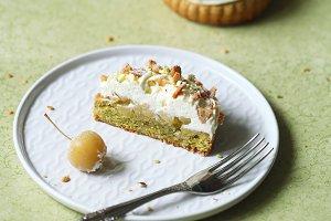 Pistachio Financier Cakes