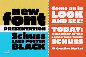 Schuss Sans CG Poster Black