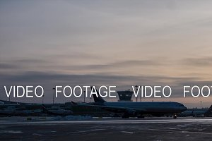 Timelapse of traffic at Terminal D of Sheremetyevo Airport, Moscow