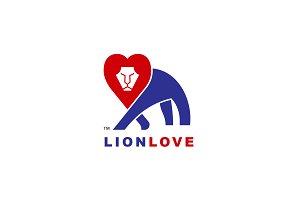 Lion Hearth logo design