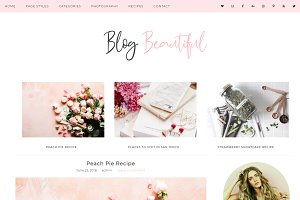 Wordpress Theme Blog Beautiful