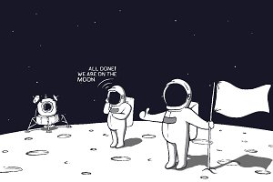 astronauts landed on the moon