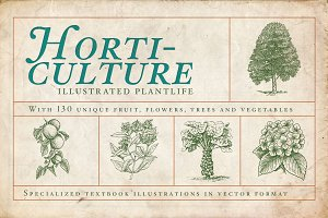 Horticulture - 130 plant vectors