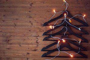 Christmas tree from hangers.