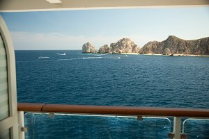 Balcony View on Cruise Ship at Sea