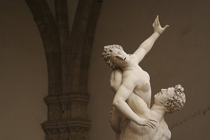 Statue Rape of the Sabines, Italy