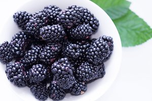 Large blackberries. Blackberries.