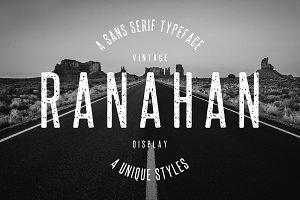 Ranahan – Vintage Sans Serif Font