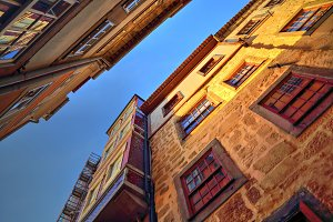 Beautiful and colorful Porto Streets