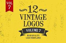 Vintage Logo Design Templates Vol. 7
