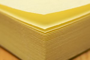 Post It Note Pad Abstract Macro with Narrow Depth of Field
