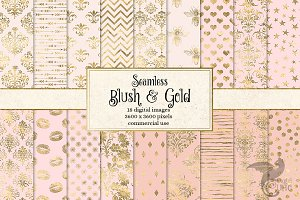 Blush and Gold Digital Paper