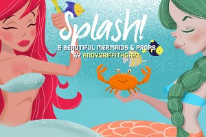 Splash! Cute Mermaid Clip art