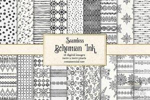 Bohemian Ink Digital Paper
