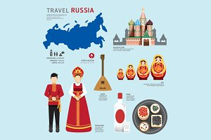 Travel Concept Russia Landmark.