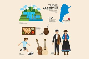 Travel Concept Argentina Landmark.