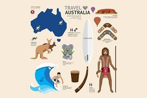 Travel Concept Australia Landmark.
