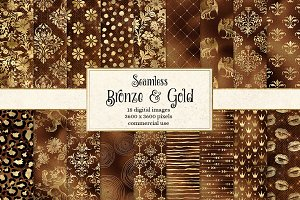 Bronze and Gold Digital Paper