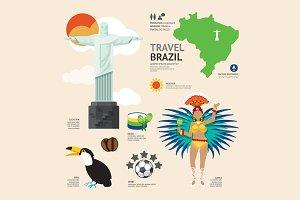 Travel Concept Brazil Landmark.