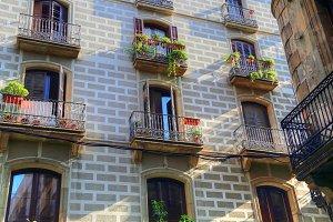 Barcelona streets in historic center