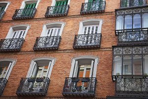 Streets of Madrid in Historic center