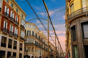 Malaga old town streets