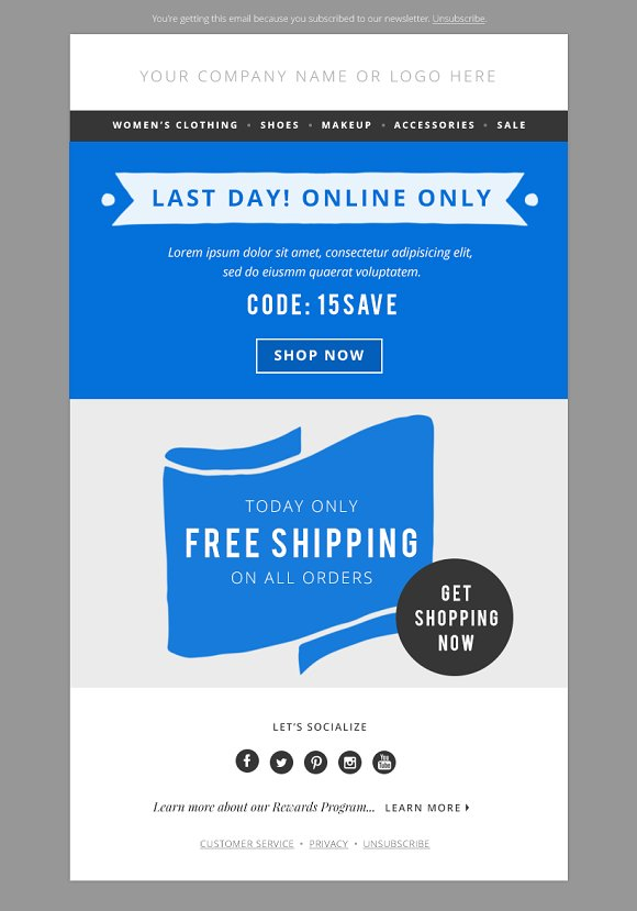 4 Sales E Mail Newsletter Templates Email Creative Market