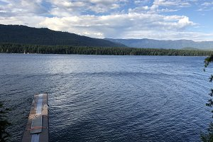 Lake Wenatchee Summer Cabin View
