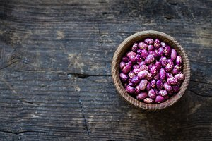 Purple grains-beens in a bowl
