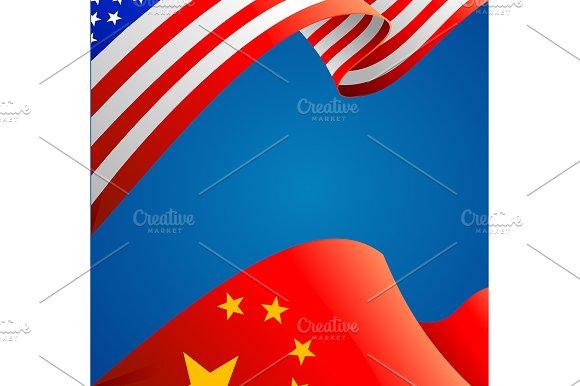 3d Flag Background Card. Vector in Illustrations