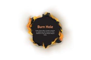 Realistic 3d Burn Hole Paper