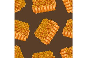 3d Honey Combs Pattern Background.