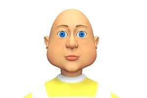 Blue-eyed bald man