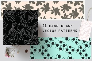 21 Hand Drawn Vector Pattern
