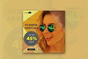 Summer Arrivals Off Instagram Banner