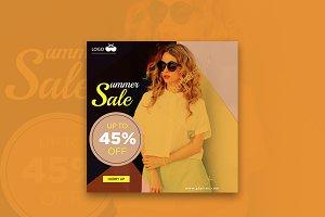 Glasses Fashion Summer Sale Banner